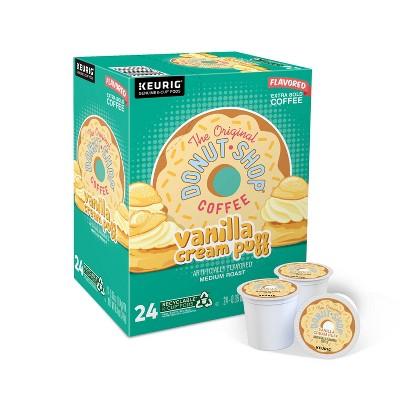 The Original Donut Shop Vanilla Cream Puff Medium Roast Coffee - Keurig K-Cup Pods - 24ct