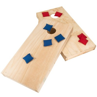 Hey! Play! Do-It-Yourself Regulation Size Cornhole Boards and Bags Set
