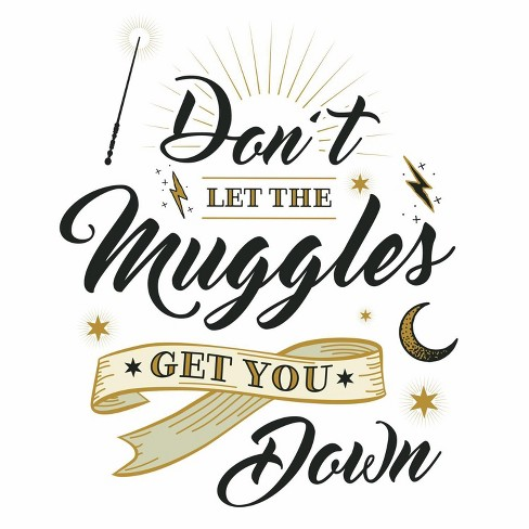 RoomMates Harry Potter Muggles Quote Peel and Sticks Wall Decals - image 1 of 2