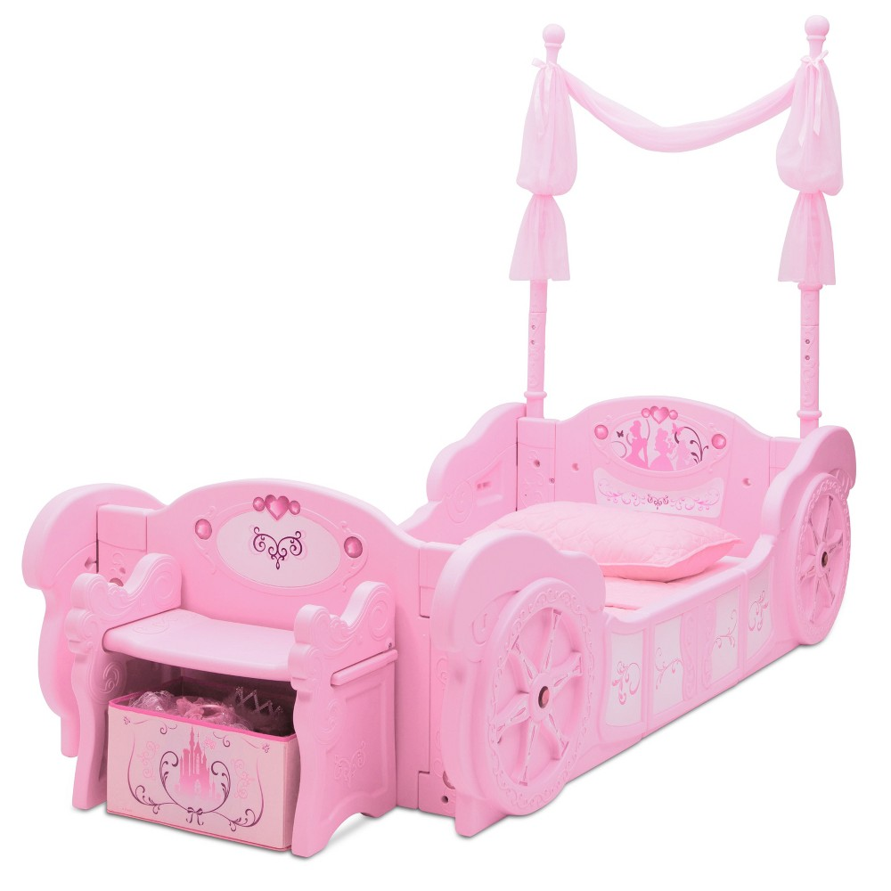 Image of Disney Princess Carriage ToddlertoTwin Bed - Delta Children, Pink