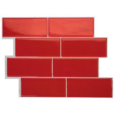 "Smart Tiles 3D Peel and Stick Backsplash 4 Sheets of 11.56"" x 8.38"" Kitchen and Bathroom Wallpaper"