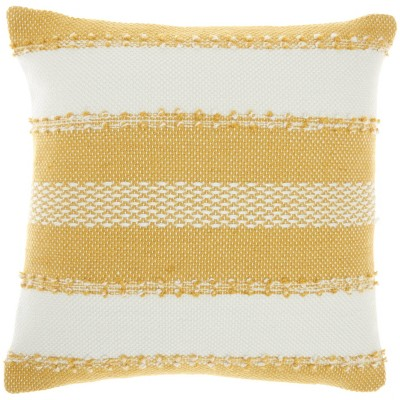 Woven Striped and Dots Indoor/Outdoor Throw Pillow - Mina Victory