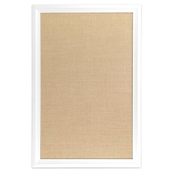 "Ubrands White Wood Frame Burlap Bulletin Board - 20"" x 30"""