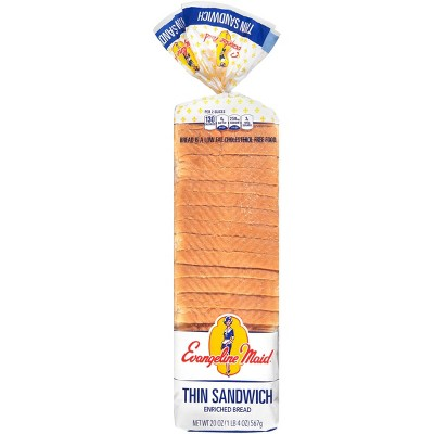 Evangelin Maid Thin Sandwich Bread - 20oz