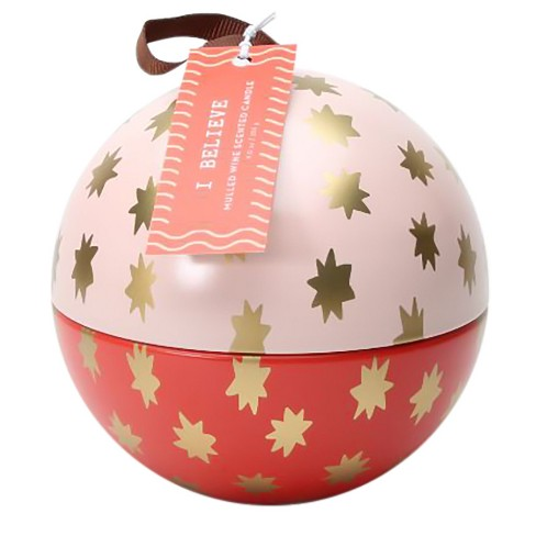 Ornament Tin Candle Mulled Wine 9oz - image 1 of 1