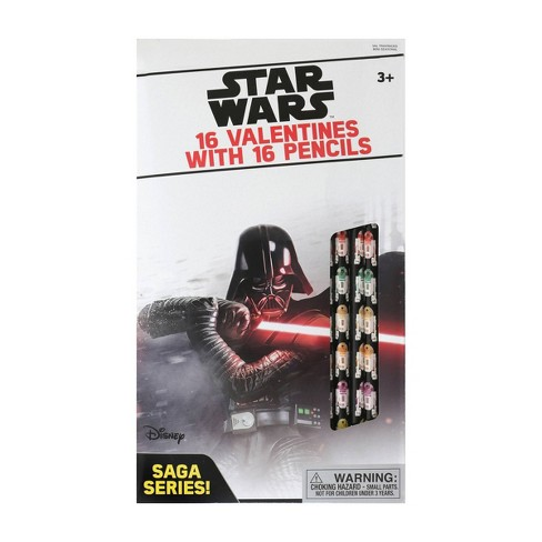 Star Wars 16ct Classic Valentines With Pencils - image 1 of 1