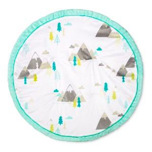 Round Activity Playmat Adventure Awaits - Cloud Island Mint, Blue