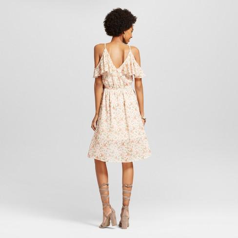 93c496ab5b8 Women s Cold Shoulder Wrap Dress - Xhilaration™ (Juniors )   Target