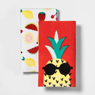 2pk Fruit Salad Print Kitchen Towels - Sun Squad™