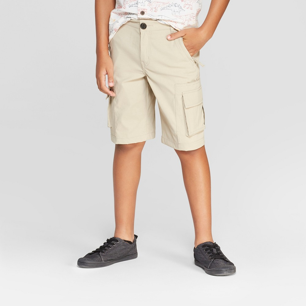 Boys' Techy Stretch Cargo Shorts - Cat & Jack Light Brown 7