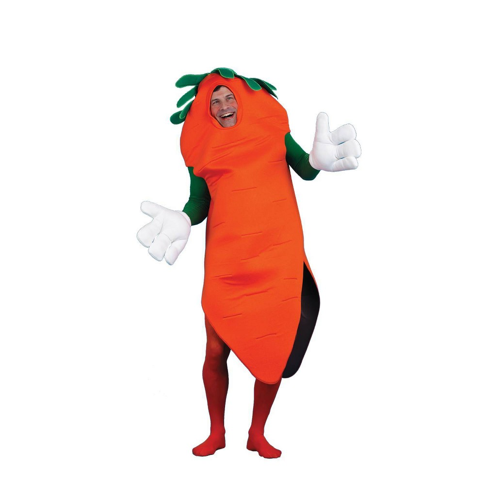 Adult Carrot Halloween Costume One Size
