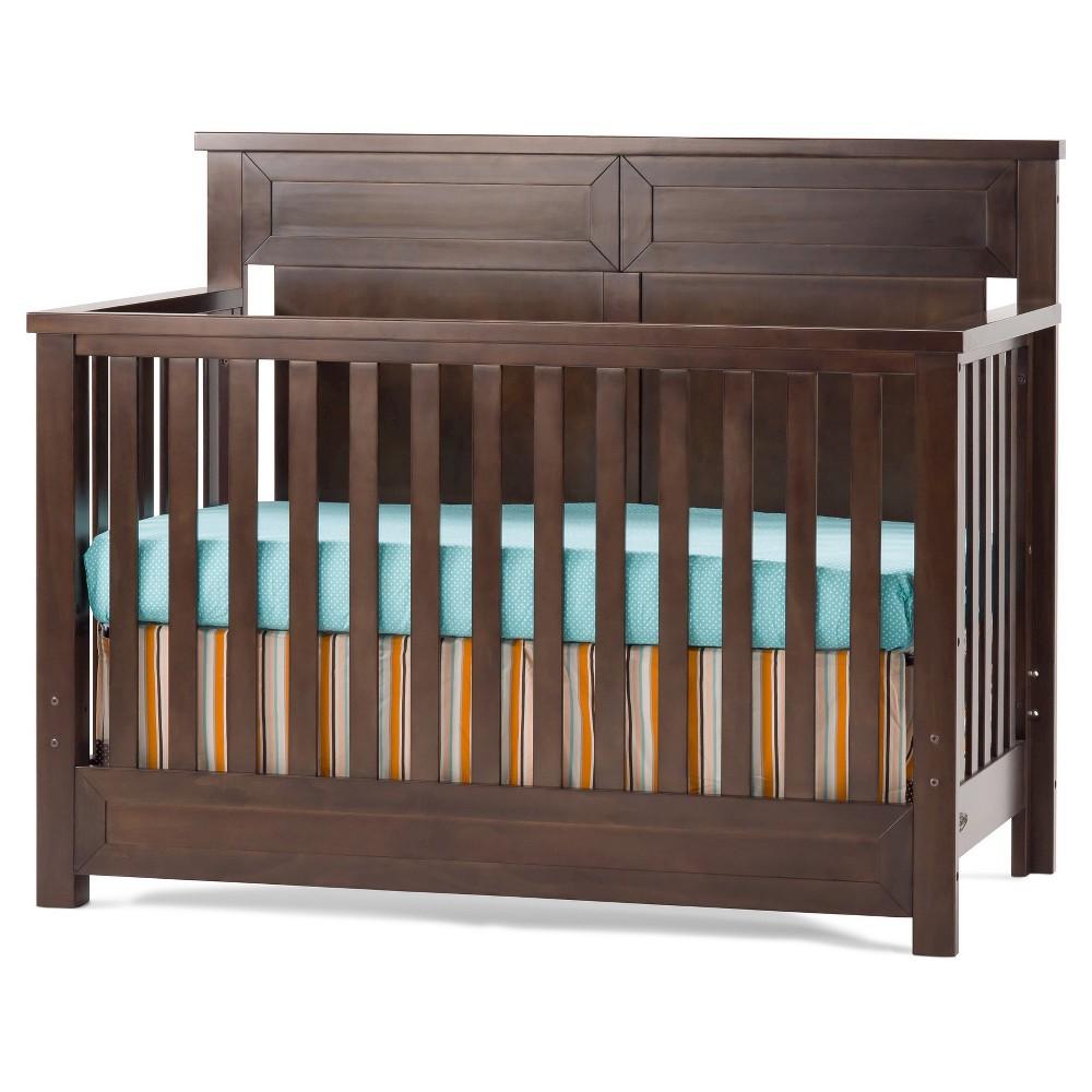 Image of Child Craft Abbott 4-in-1 Convertible Crib - Walnut, Brown