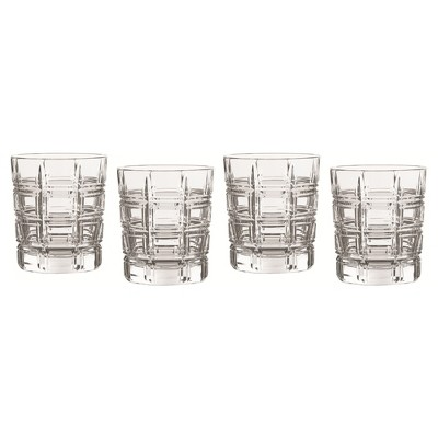Marquis by Waterford Crosby Crystal Double Old-Fashioned Glass 10oz - Set of 4