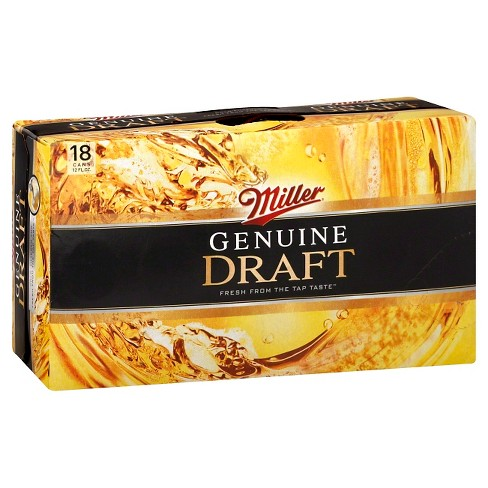 Miller® Genuine Draft Beer -18pk / 12oz Cans - image 1 of 1