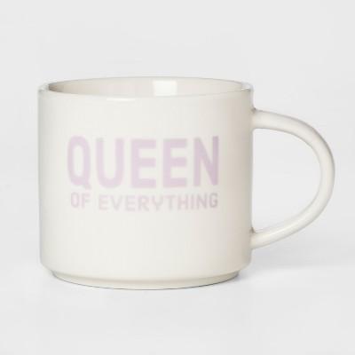 16oz Porcelain Queen Of Everything Mug White/Pink - Room Essentials™