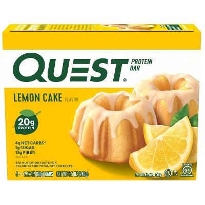Quest Nutrition Lemon Cake Bar - 4ct