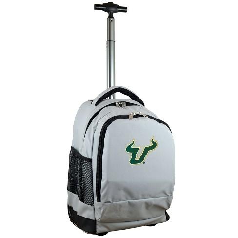 NCAA South Florida Bulls Gray Premium Wheeled Backpack - image 1 of 6