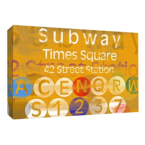 Subway Times Square Decorative Canvas Wall Art 11\