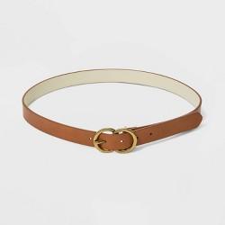 Women's Double O Ring Buckle Belt - Universal Thread™ Tan