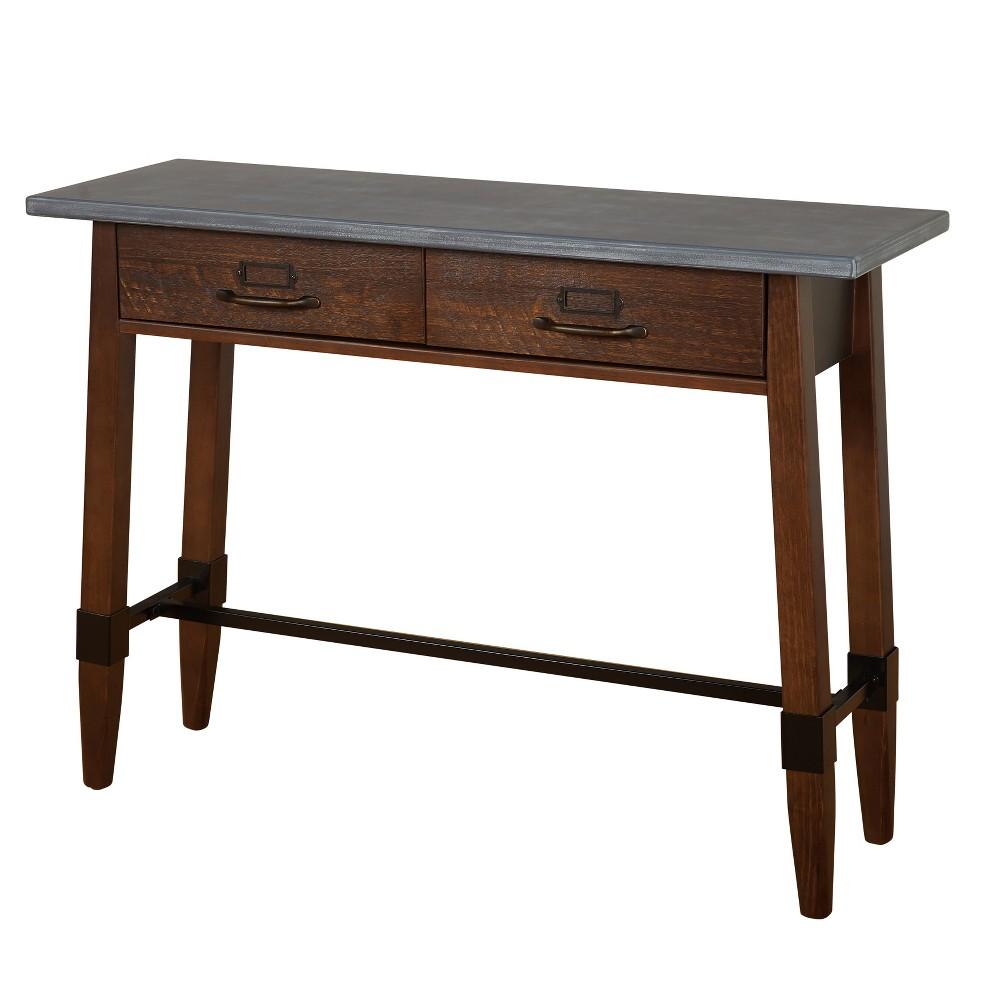 Clint Sofa Table Gray/Espresso - Buylateral