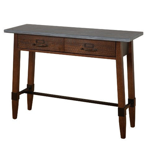 Clint Sofa Table Gray Espresso Lateral