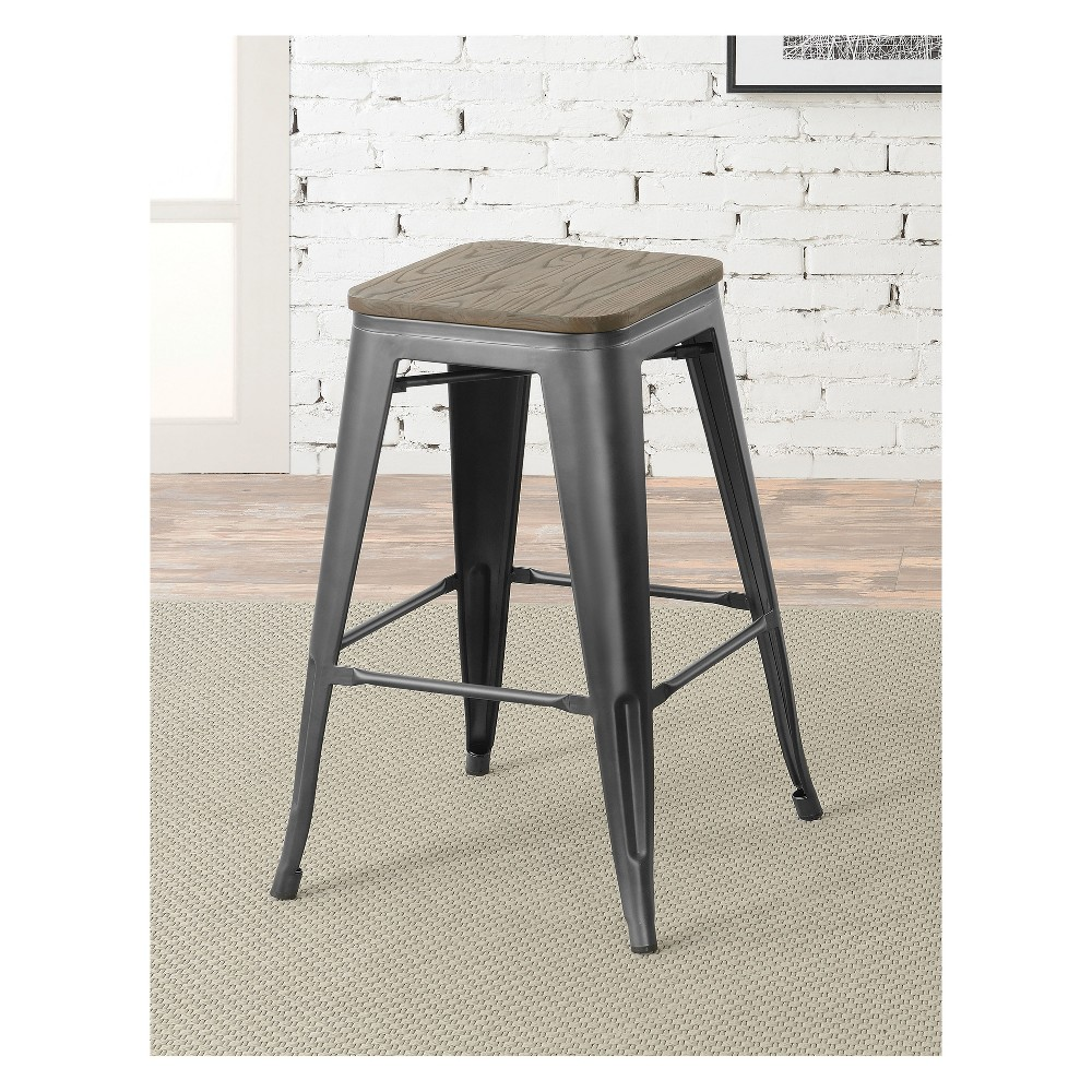 Slack Contemporary Counter Height Stool Gray - Homes: Inside + Out