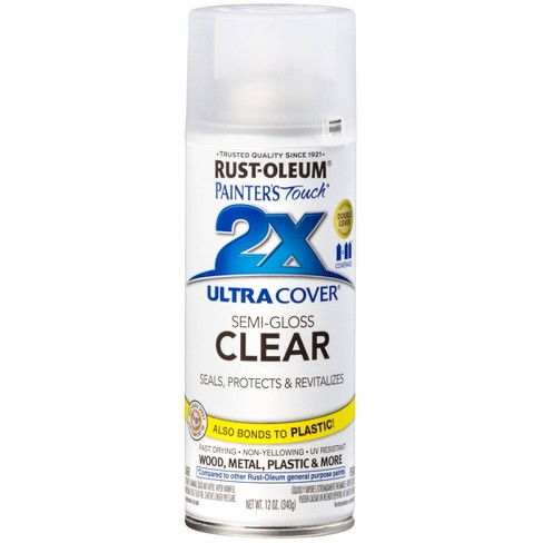 Rust-Oleum Painter's Touch 2X Ultra Cover Semi-Gloss Clear Spray Paint 12oz