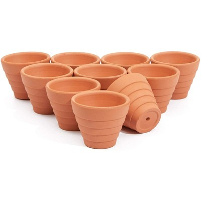 "Juvale 10 Pack Terra Cotta Clay Pots, Small Plant Pots, Planters for Succulents & Cactus, 1.5 x 1.5 x 1.9"""