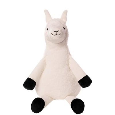Wondershop™ White Llama Stuffed Animal with Black Plush Feet - Medium