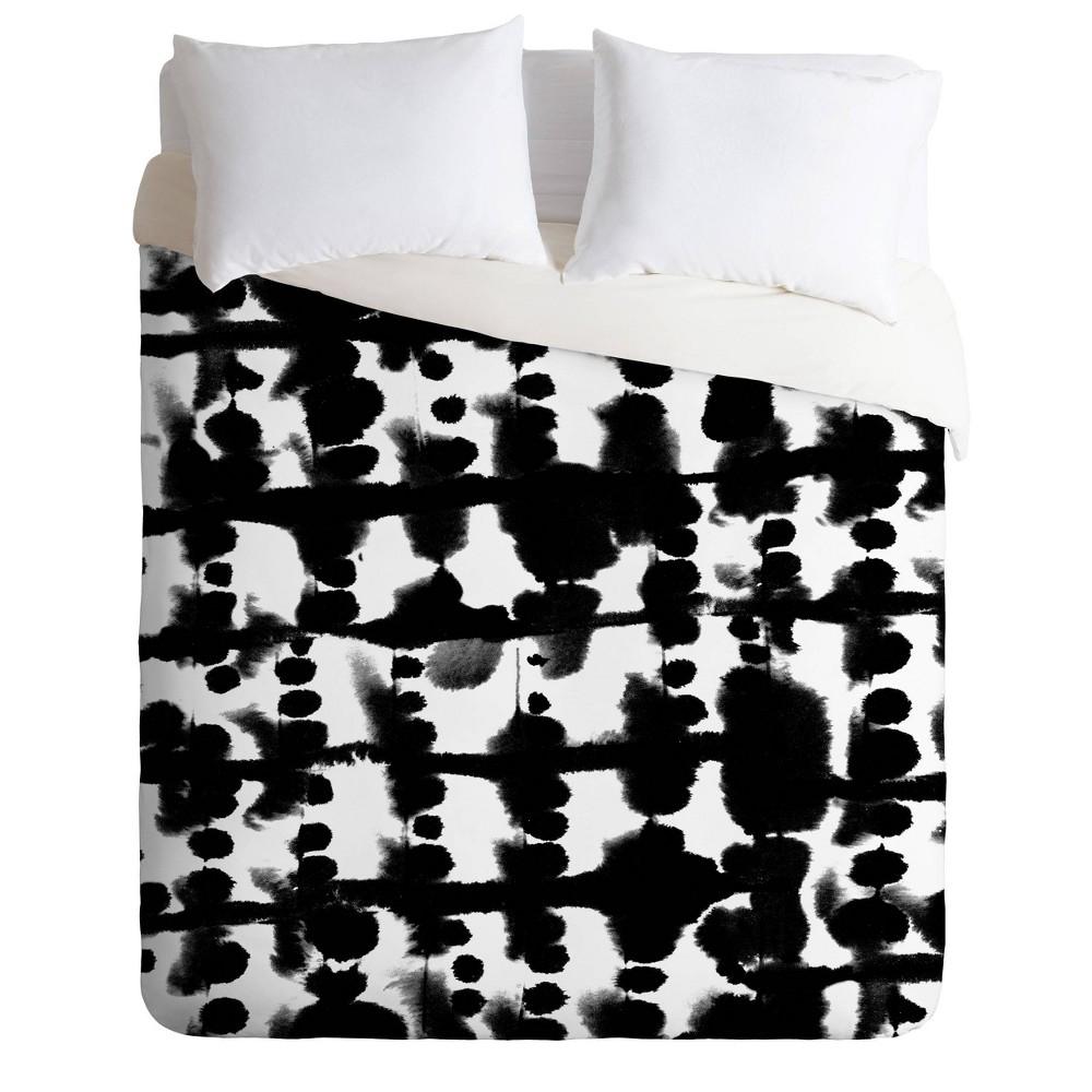 King Jacqueline Maldonado Parallel Comforter Set Black White Deny Designs