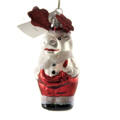 """Golden Bell Collection 3.75"""" Reindeer In Red Trousers Ornament Czech Antlers Santa  -  Tree Ornaments"""