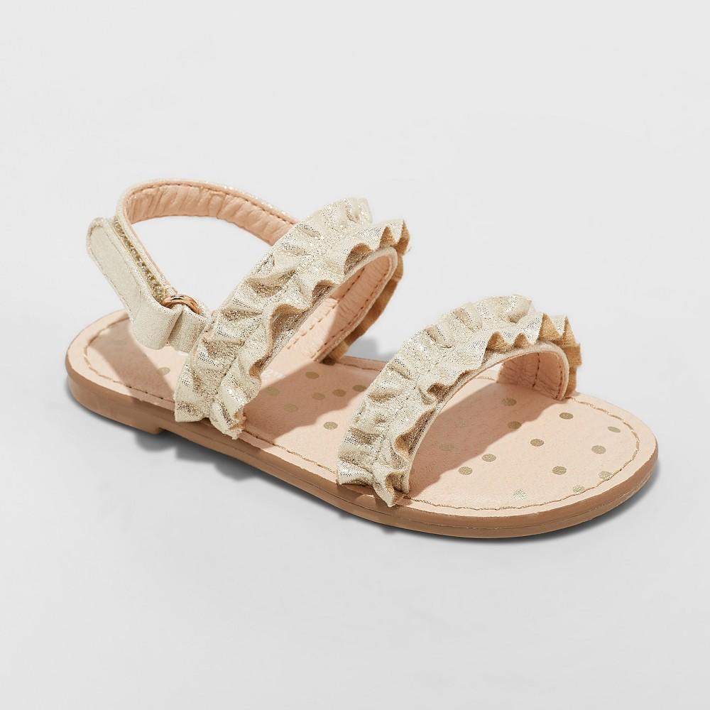 Toddler Girls' Irisa Slide Sandals - Cat & Jack Gold 10