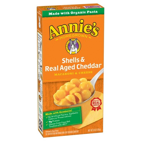 Annie's Shells and Real Aged Cheddar Macaroni & Cheese - 6oz - image 1 of 4