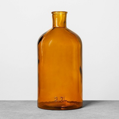2.7L Long Neck Bottle Amber - Hearth & Hand™ with Magnolia