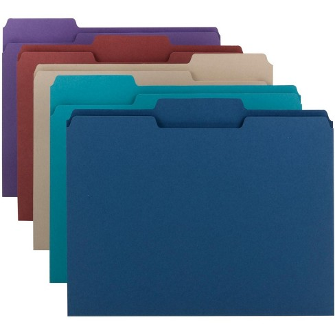 Smead 1/3 Cut Mediumweight Top Tab File Folders, Letter Size, Assorted Colors, pk of 100 - image 1 of 1