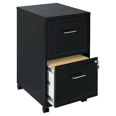 Beau Hirsh Industries® Space Solutions File Cabinet On Wheels, 2 Drawer   Black