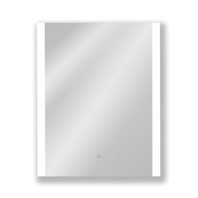 "24""x30"" Premium Lumen Single Frameless Fixed Color Temp LED Wall Mirror with Anti Fog Glass - Tosca"