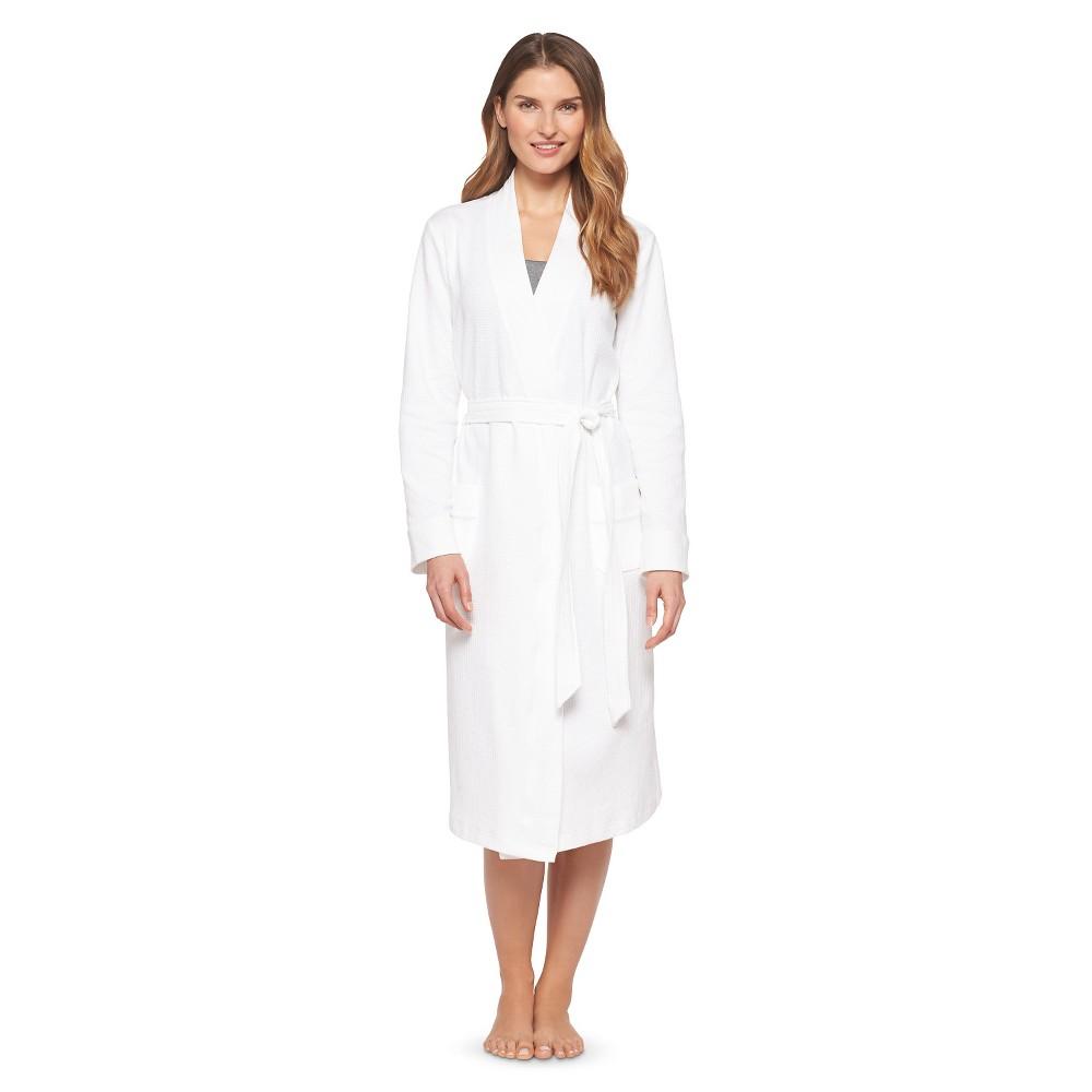 Women's Waffle Knit Robe - White XS/S