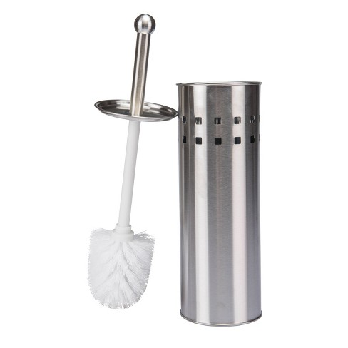 Toilet Brush with Air Vents Stainless Steel - Bath Bliss - image 1 of 1