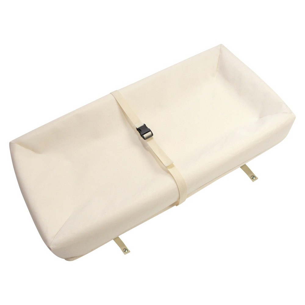 Image of Naturepedic Organic Cotton Contour Changing Pad -White, Clear
