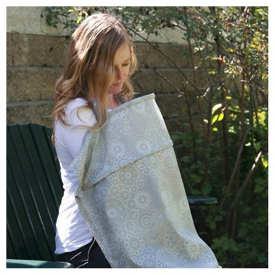 organicKidz Baby and Me Harmony Silver Exclusive Double Rimmed Nursing Cover