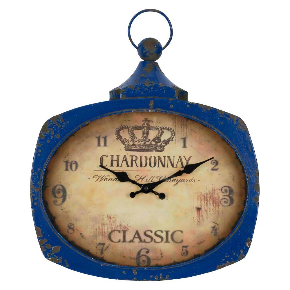 Galina Chardonnay Wall Clock Vintage Indigo - Cooper Classics