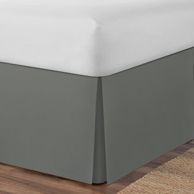 Space Maker Extra Long Twin Bed Skirt Silver Gray