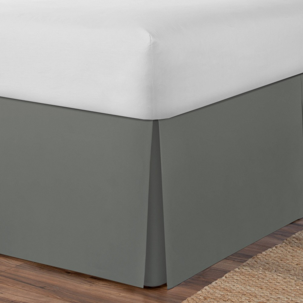 Image of Space Maker Extra Long Twin Bed Skirt Silver Gray