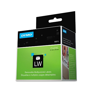 DYMO LabelWriter Multipurpose Labels 2 x 2 5/16 White 250 Labels/Roll 30370