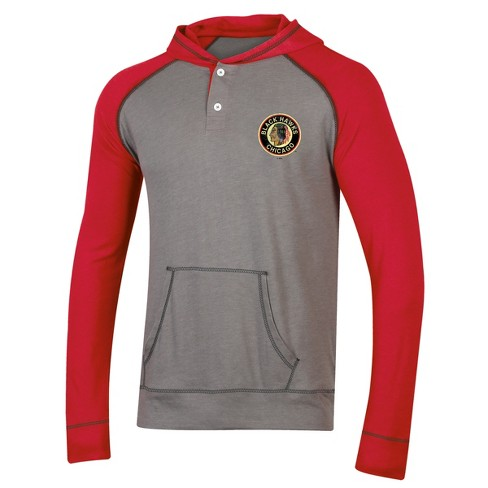 separation shoes b066f 31006 NHL Chicago Blackhawks Men's Greatness Gray/ Vintage Henley Hoodie