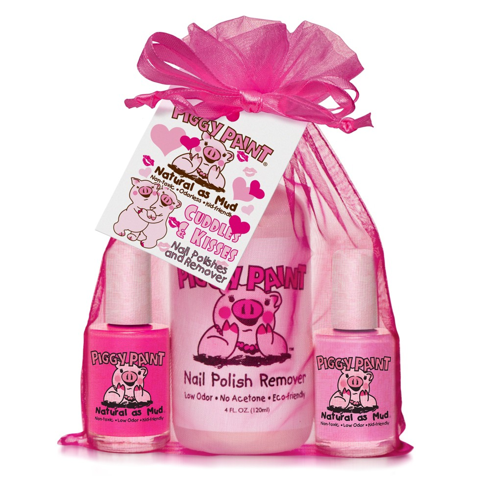 Image of Piggy Paint Cuddles and Kisses Non-Toxic Nail Polish and Polish Remover Set