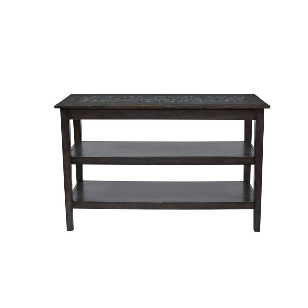 Image of 2 Shelf Wooden Sofa/ Media Table Gray - Benzara