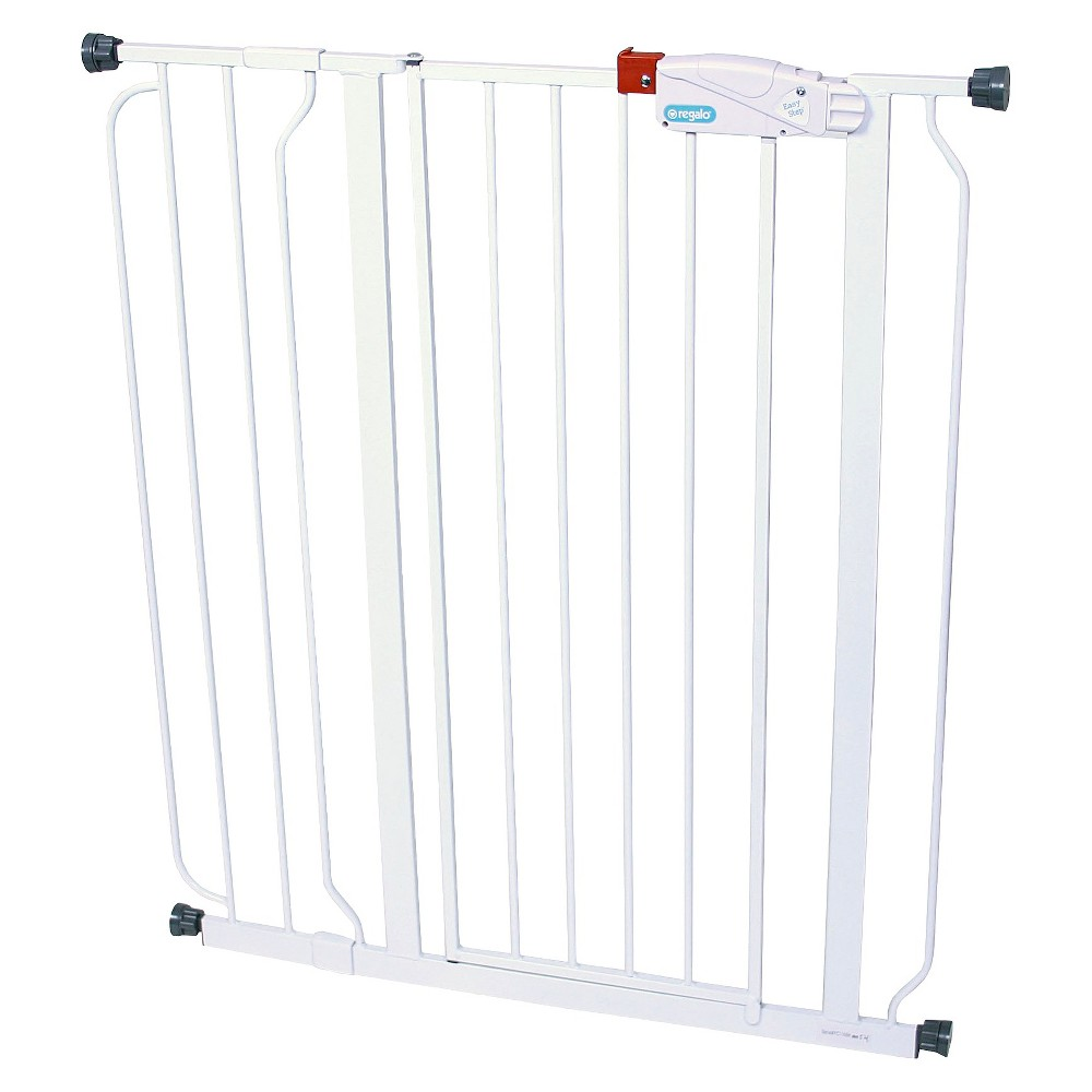 Regalo Easy Step Extra Tall Baby Gate, White