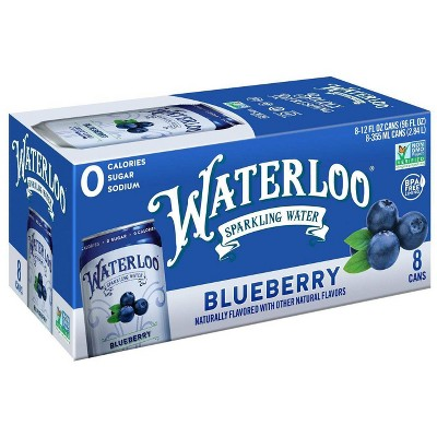 Waterloo Blueberry Sparkling Water - 8pk/12 fl oz Cans